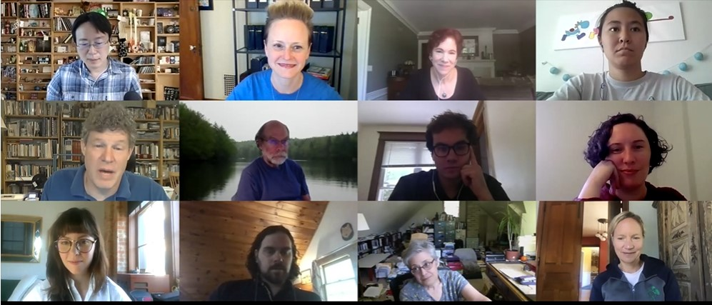 screenshot of a zoom meeting with several participants