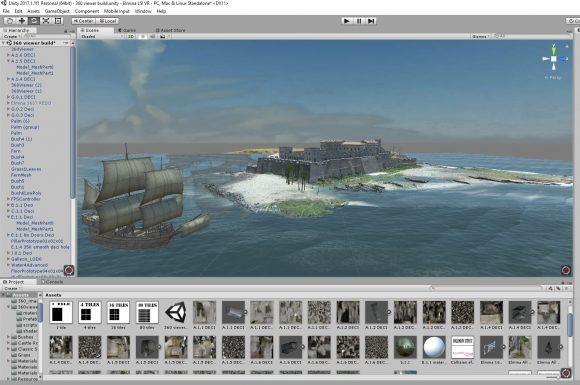 screenshot of digital elmina unity project.