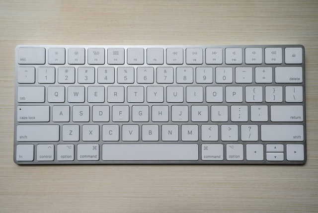 keyboard without a number pad.