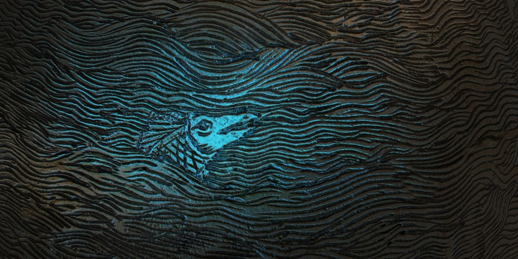 Tools of 3D reviewer that highlights an etched fish