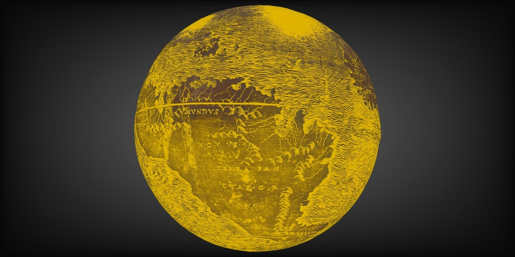 Applying the 3D viewer's lighting tools to highlight details on the globe