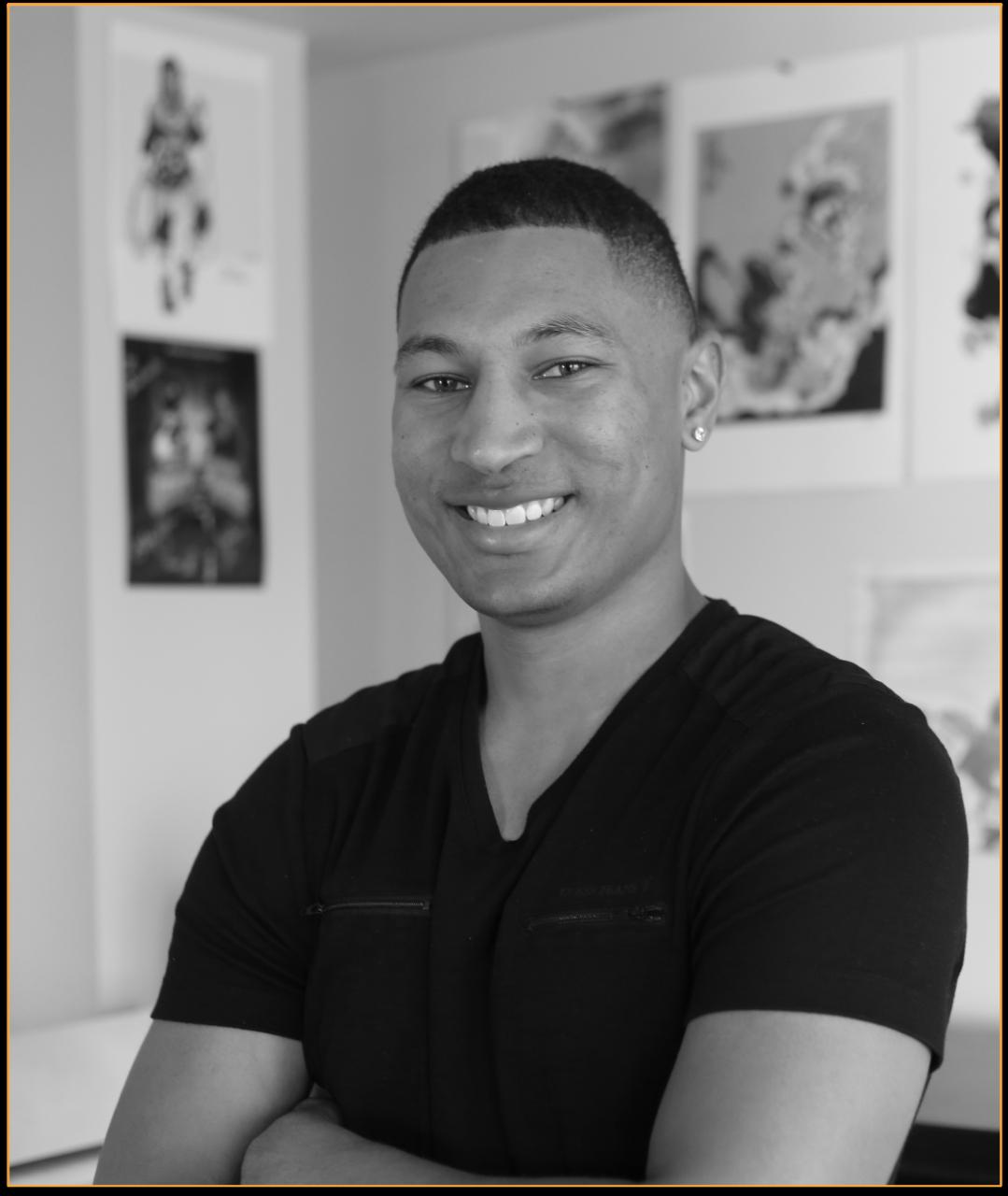 black and white photo of Steven Christian.