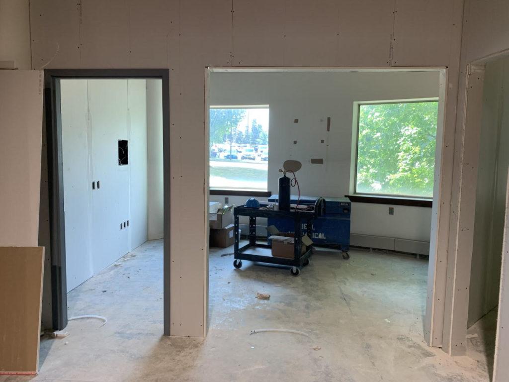 Studio X under construction.