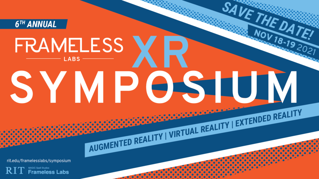 Frameless XR Symposium save the date banner.
