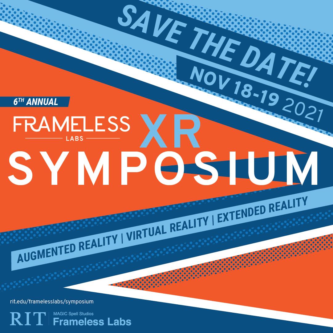 Frameless Labs XR Symposium marketing graphic.